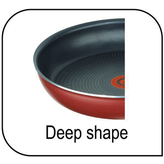 Deep shaped frying pan